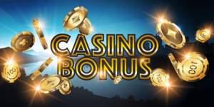 Casino bonus med flygande spelmarker i guld